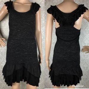 Free People ruffle trim beaded dress